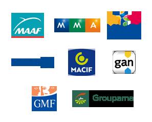 MAAF, MMMA, Matmut, Allianz, Macif, gan, GMF et Groupama